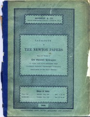 Newton's Papers - 1936 auction catalogue